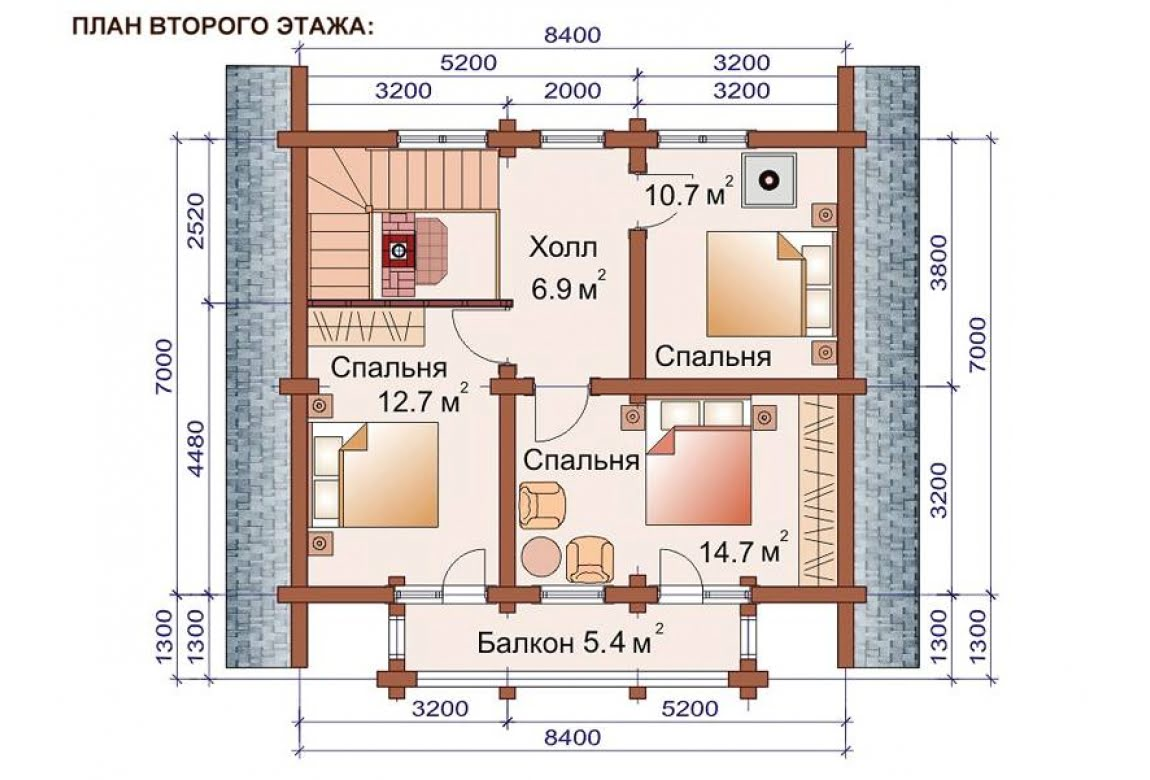 План N2 проекта бани АСД-1517