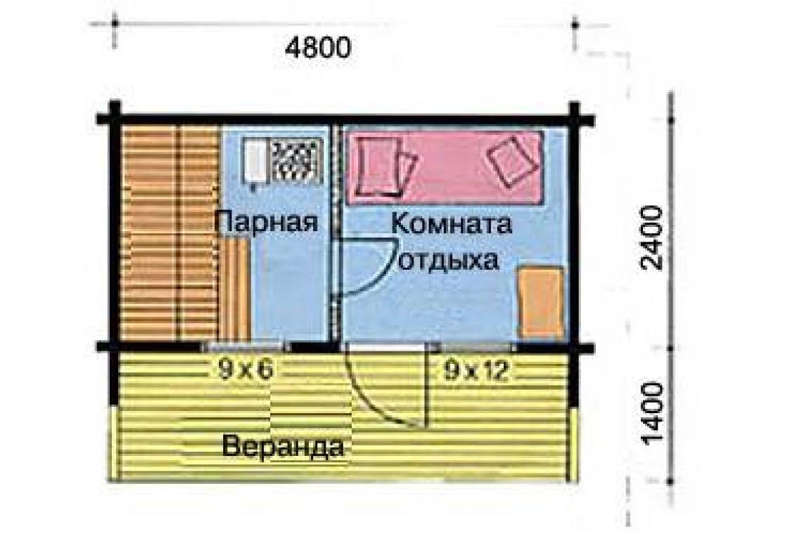 План N1 проекта бани АСД-1519