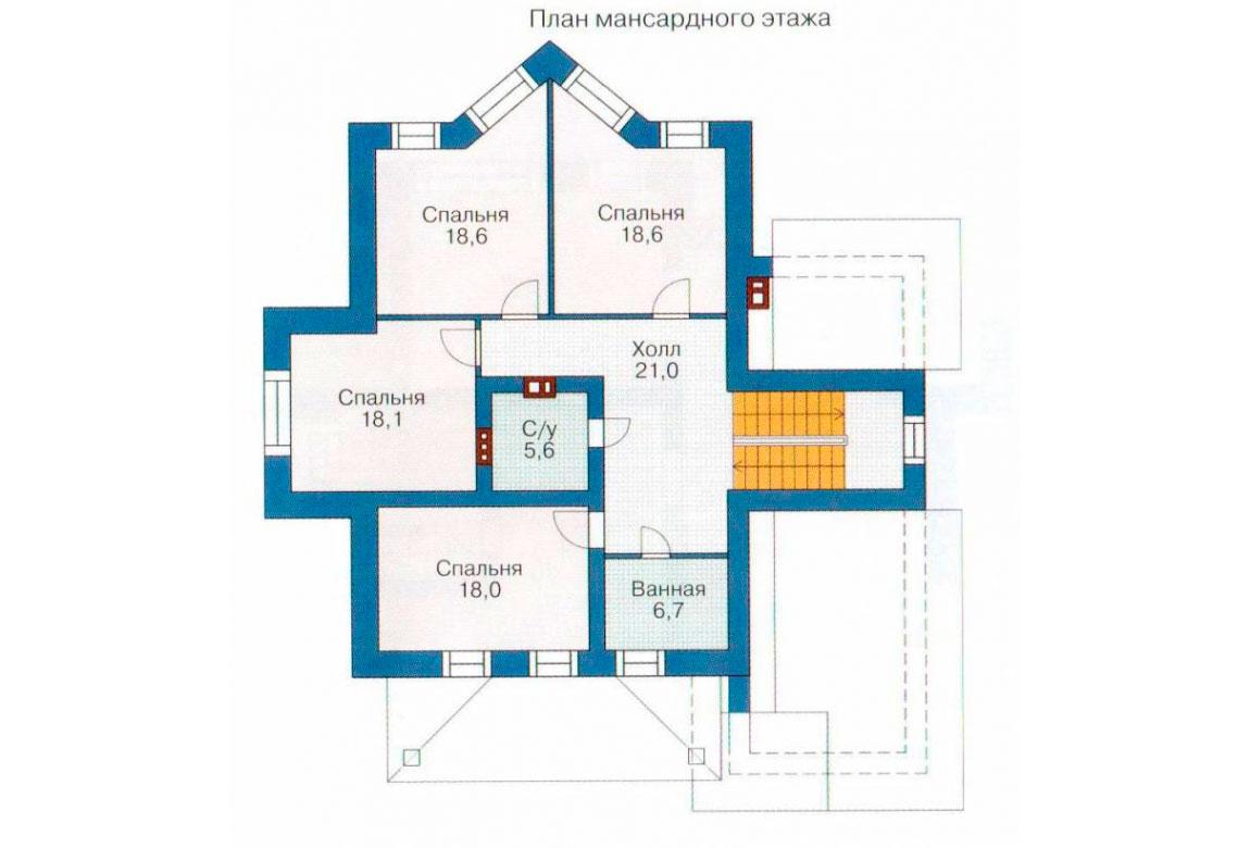 План N2 проекта кирпичного дома АСД-1052