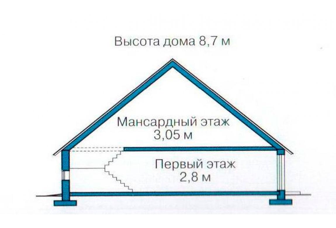 План N3 проекта кирпичного дома АСД-1052