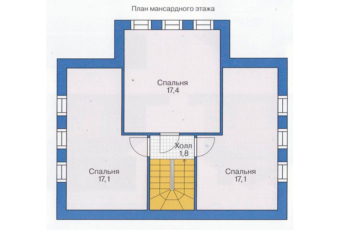 План N1 проекта дома из СИП-панелей АСД-1520