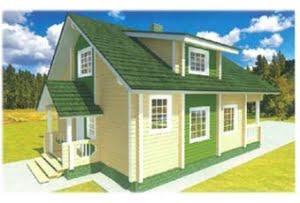 Проект дома из клееного бруса Изумруд