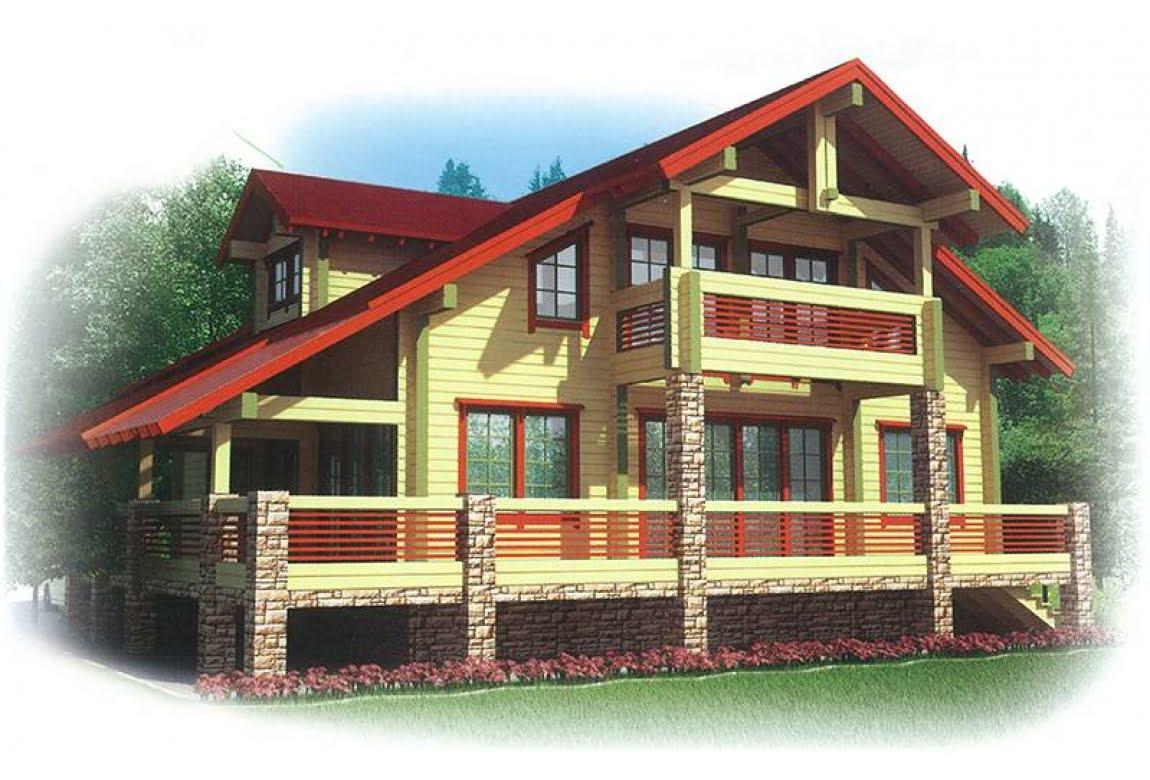 Проект дома из клееного бруса Киржач