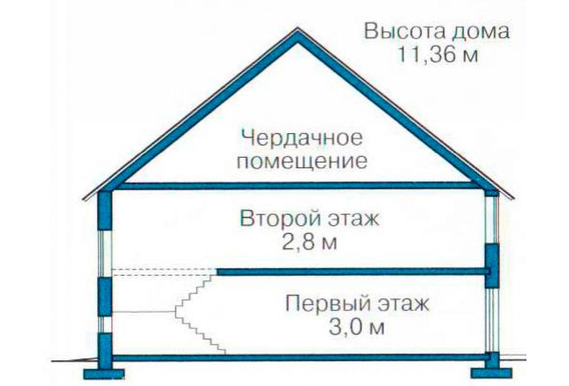 План N3 проекта кирпичного дома АСД-1053