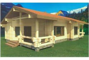 Деревянный дом из клееного бруса Лазурит