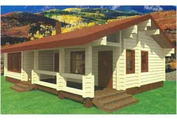Дом из клееного бруса АСД-Опал