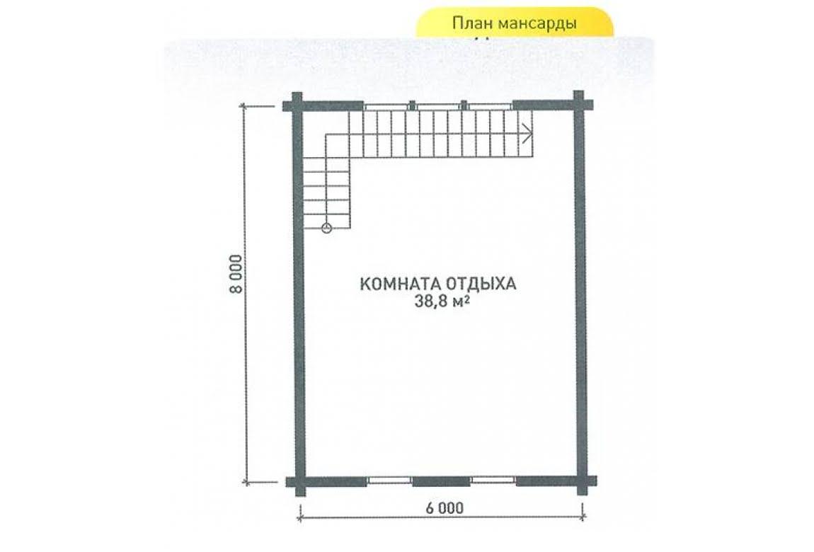 План N2 проекта дома из клееного бруса АСД-Релакс