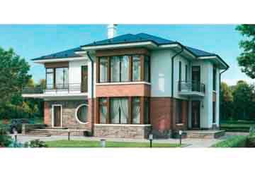 Проект кирпичного дома АСД-1054