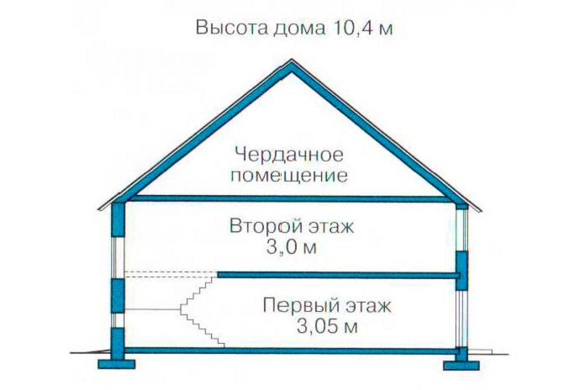План N3 проекта кирпичного дома АСД-1054