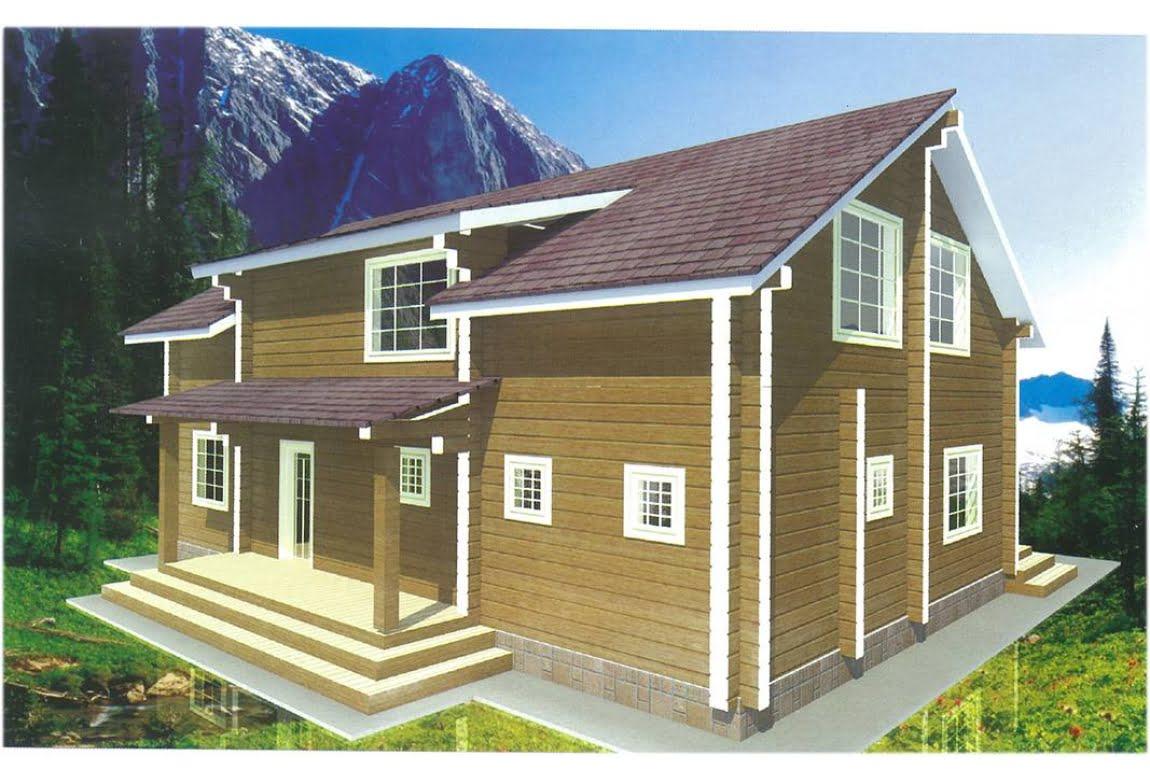 Проект дома из клееного бруса Топаз