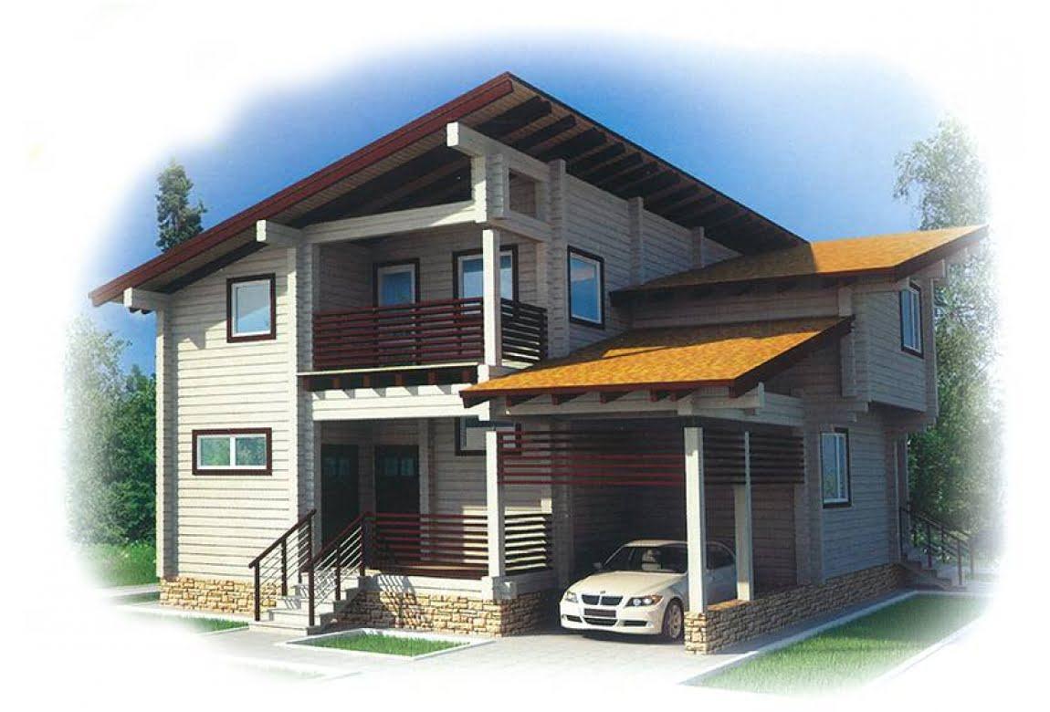 Проект дома из клееного бруса Хайтэк