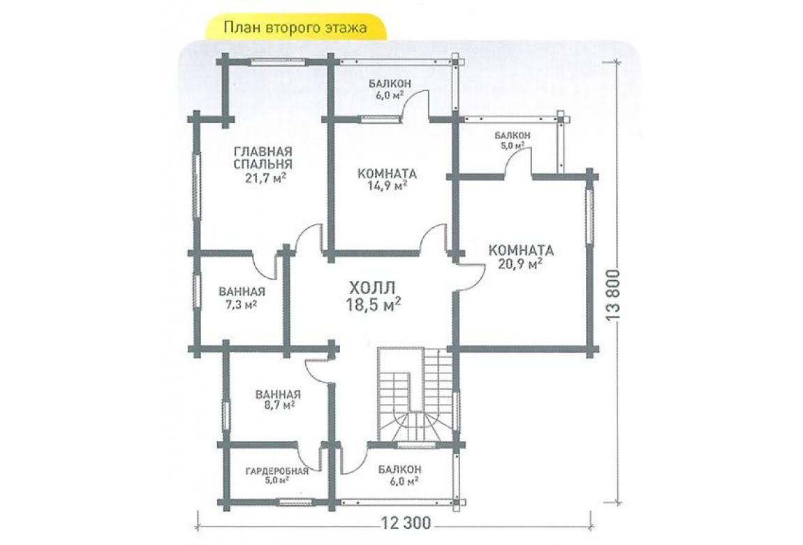 План N2 проекта дома из клееного бруса АСД-Хайтэк