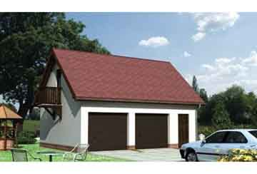 Проект гаража АСД-1548