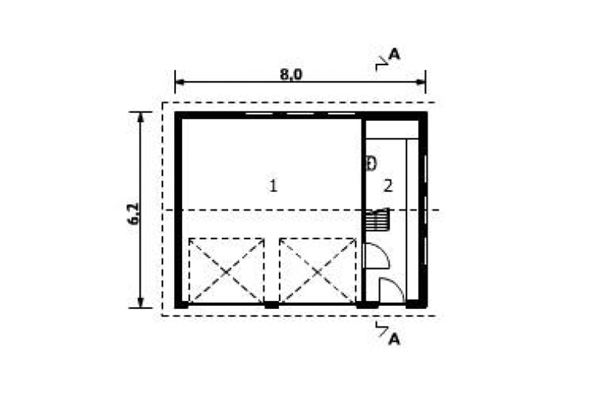 План N1 проекта гаража АСД-1548