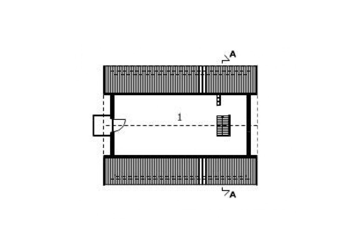План N2 проекта гаража АСД-1548
