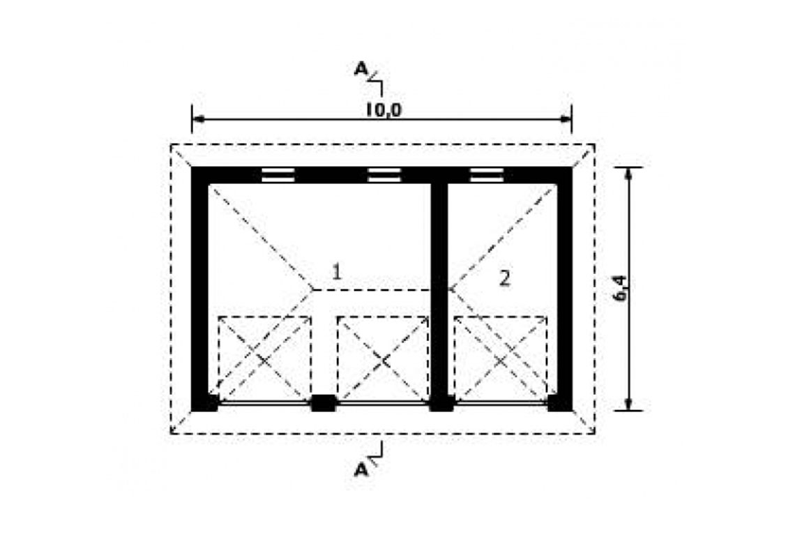 План N1 проекта гаража АСД-1549