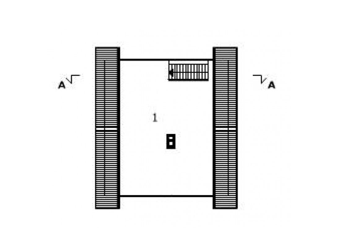 План N2 проекта гаража АСД-1550