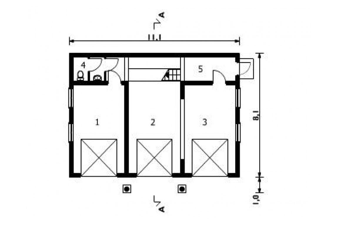 План N1 проекта гаража АСД-1551