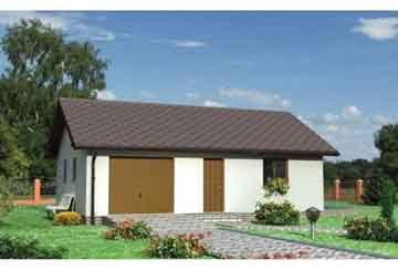 Проект гаража АСД-1555