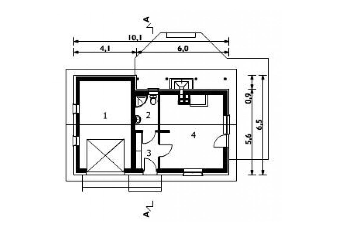 План N1 проекта гаража АСД-1555