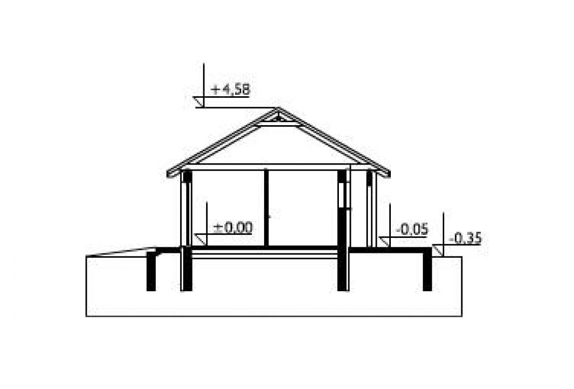План N2 проекта гаража АСД-1555