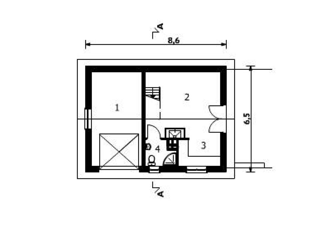 План N1 проекта гаража АСД-1556