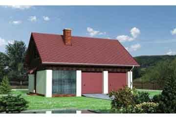 Проект гаража АСД-1557