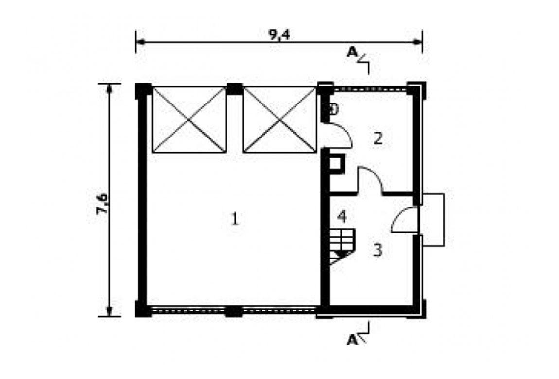 План N1 проекта гаража АСД-1557