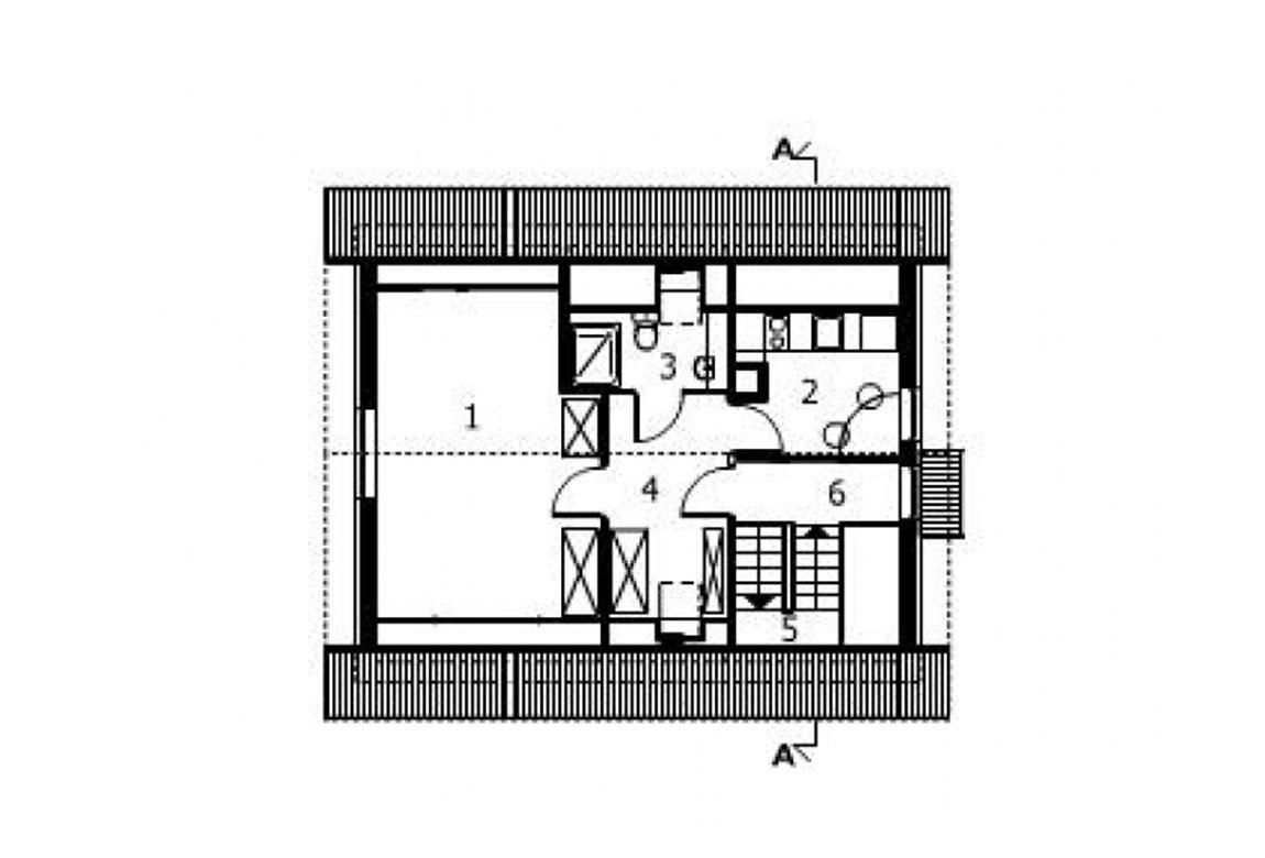 План N2 проекта гаража АСД-1557