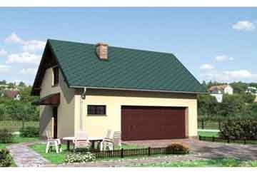 Проект гаража АСД-1558