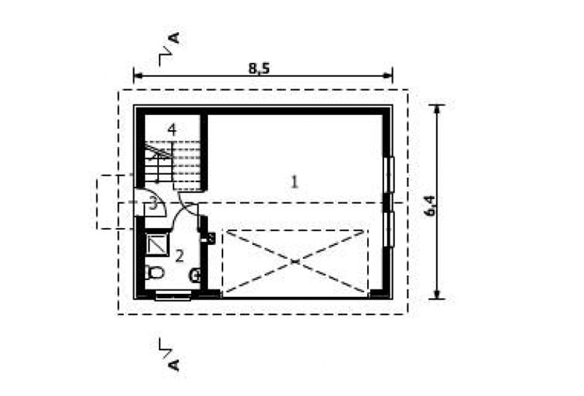План N1 проекта гаража АСД-1558