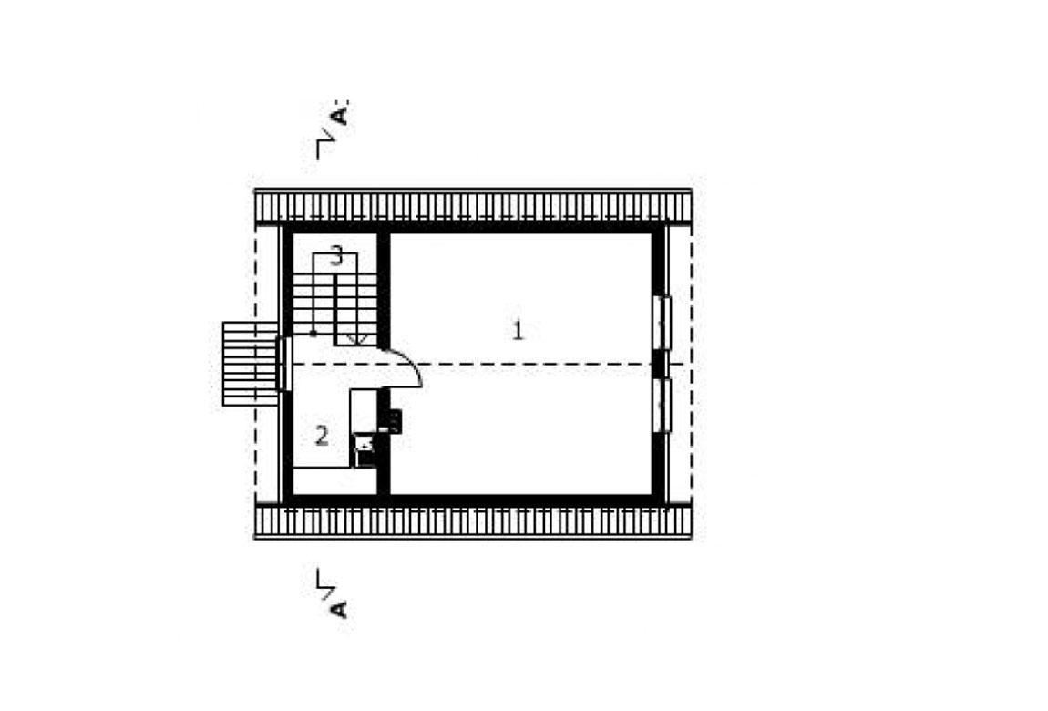 План N2 проекта гаража АСД-1558