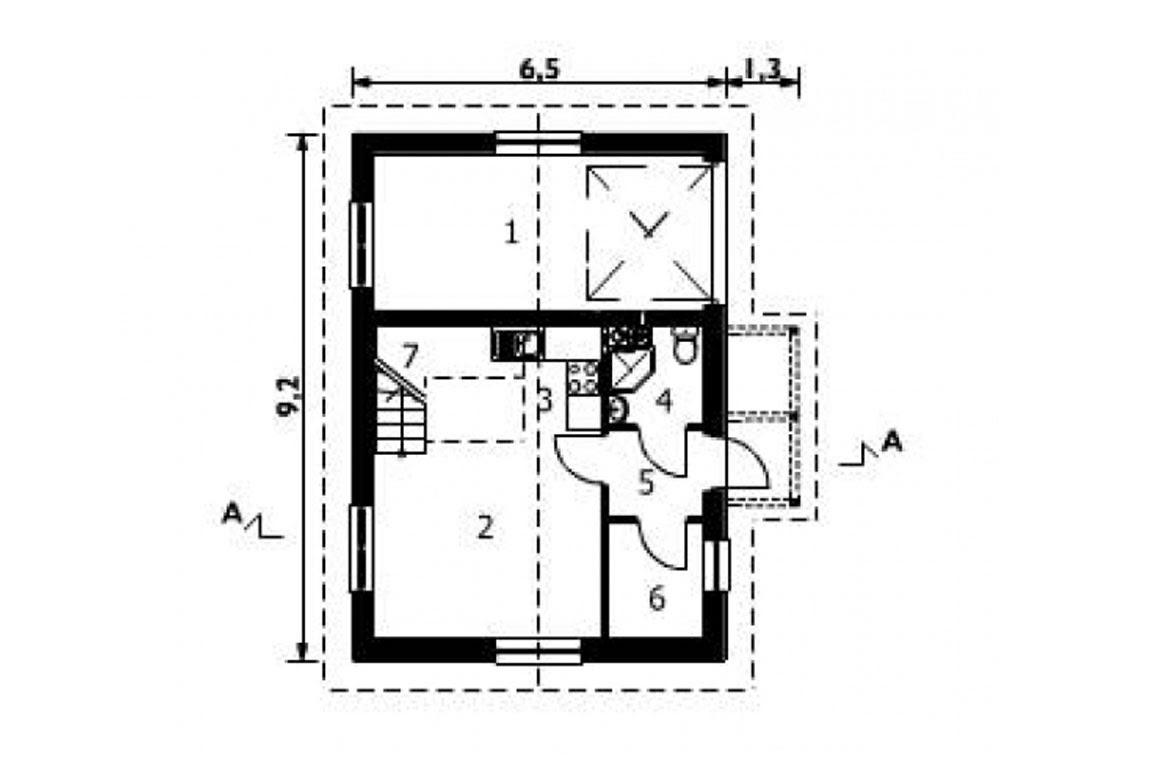 План N1 проекта гаража АСД-1559