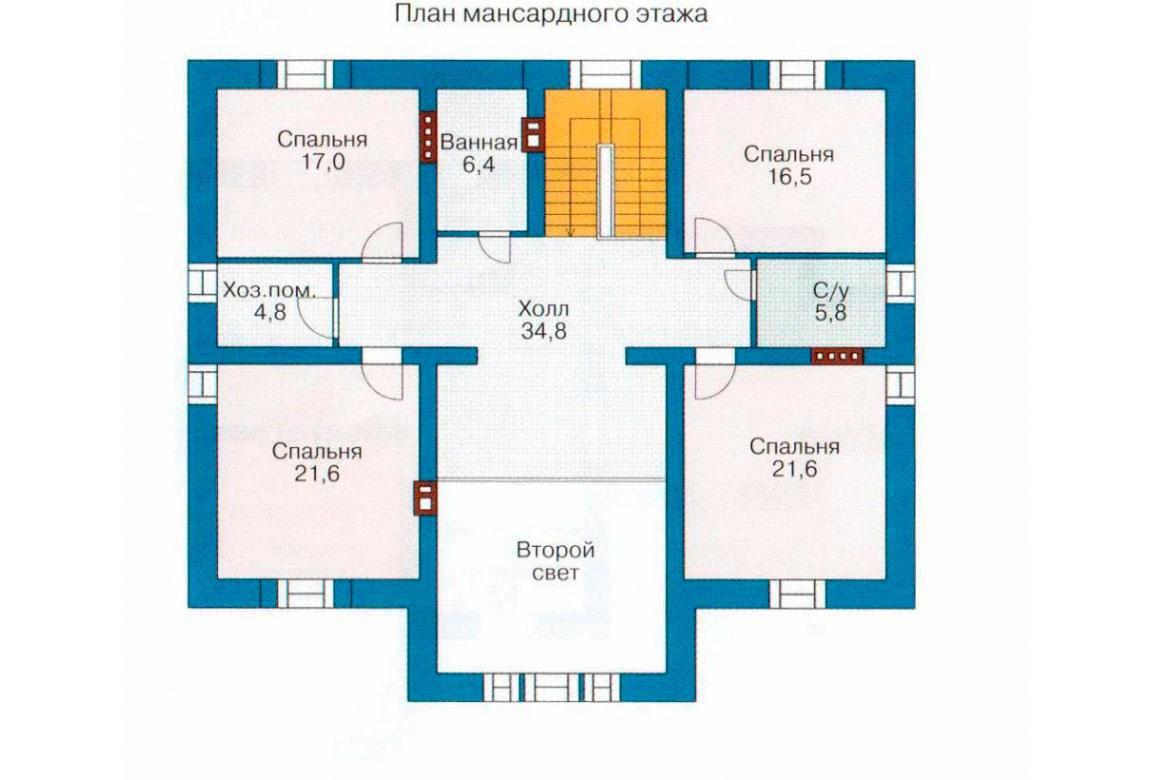 План N2 проекта кирпичного дома АСД-1056