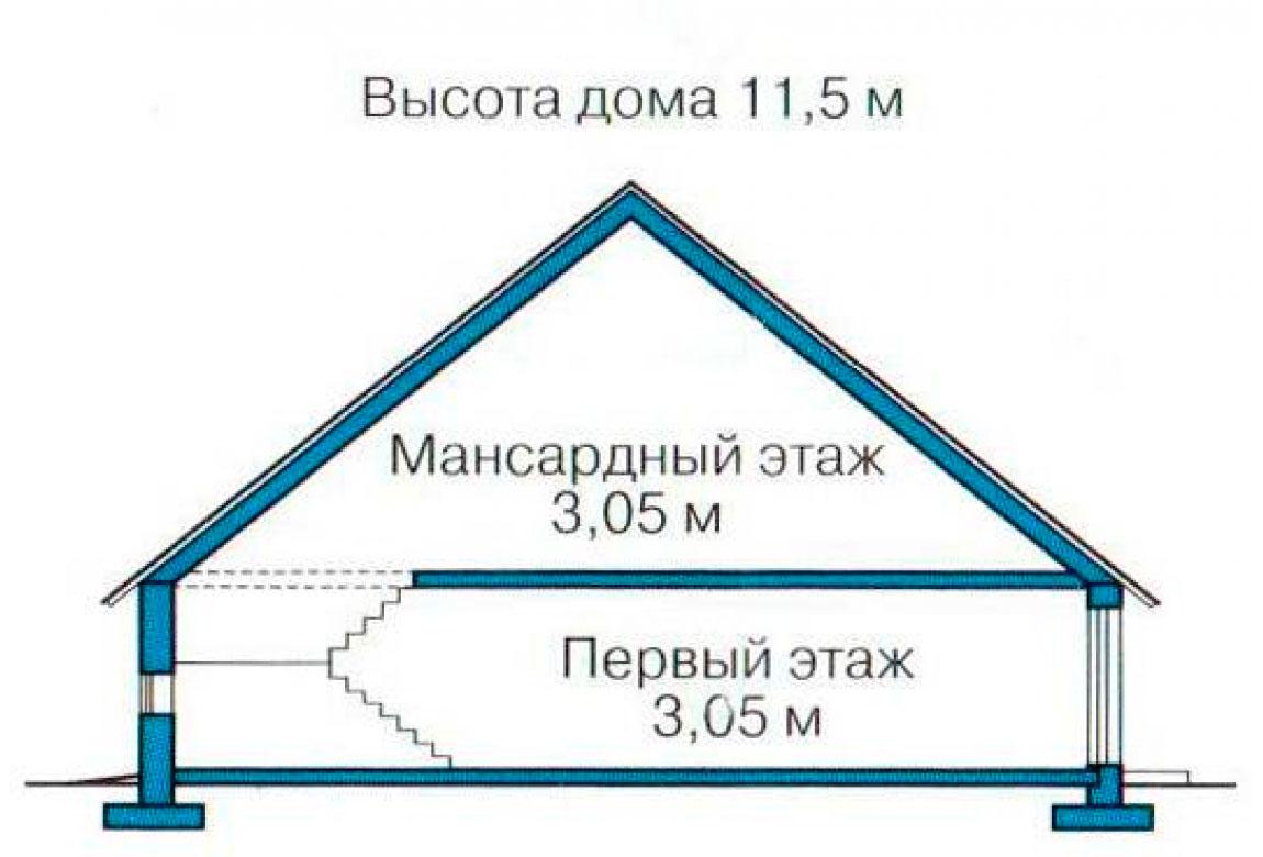 План N3 проекта кирпичного дома АСД-1056
