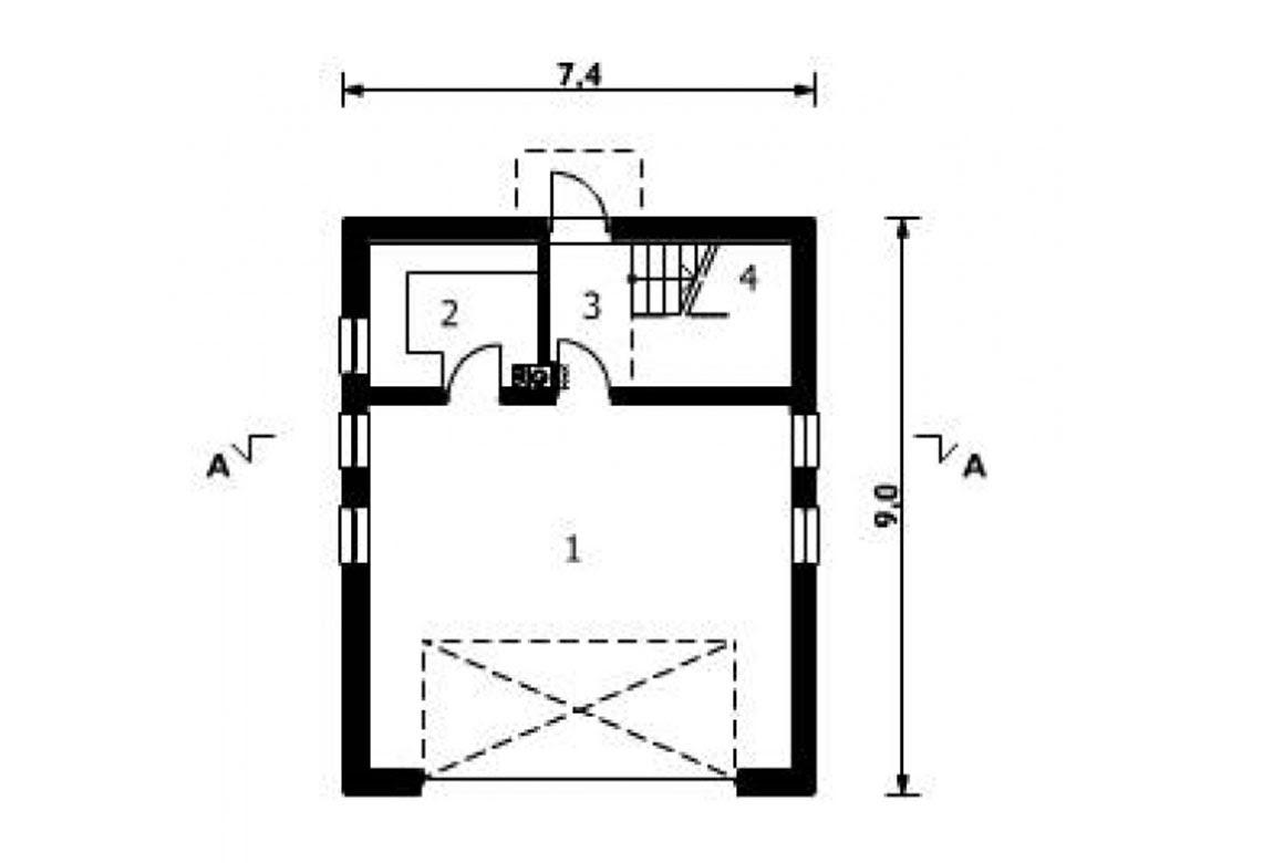 План N1 проекта гаража АСД-1560