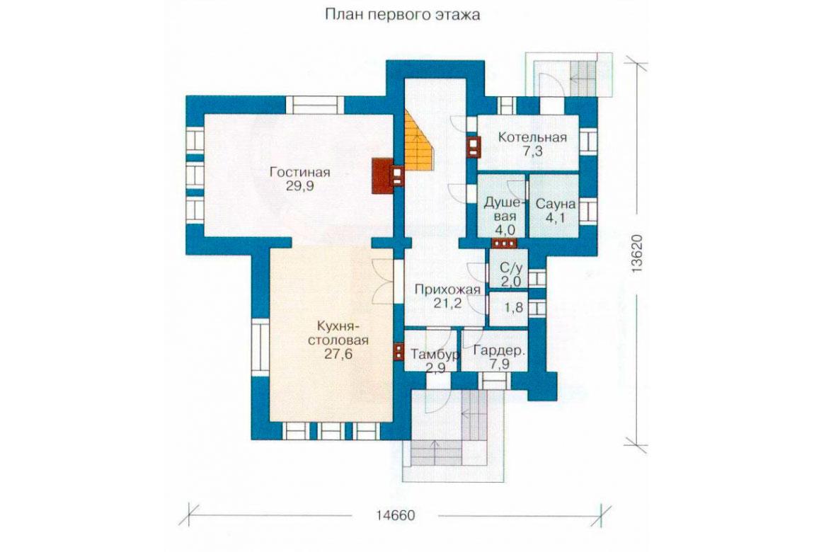 План N3 проекта кирпичного дома АСД-1057