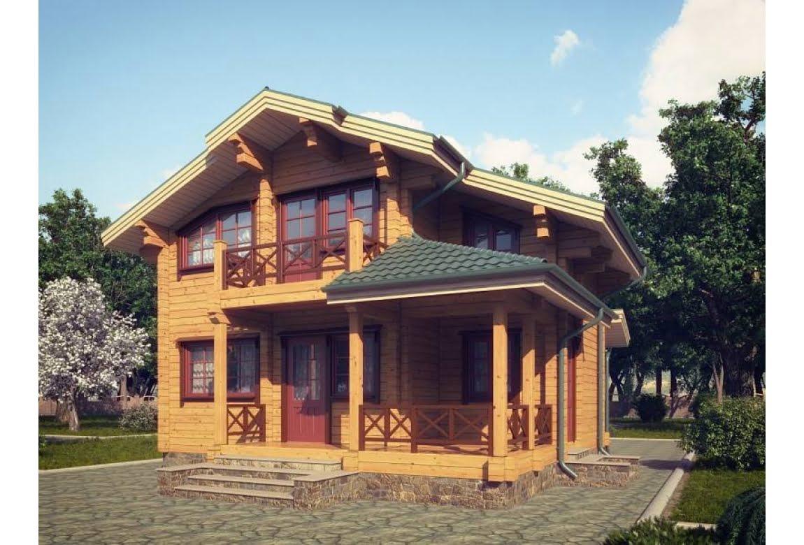 Проект дома из клееного бруса Кламар