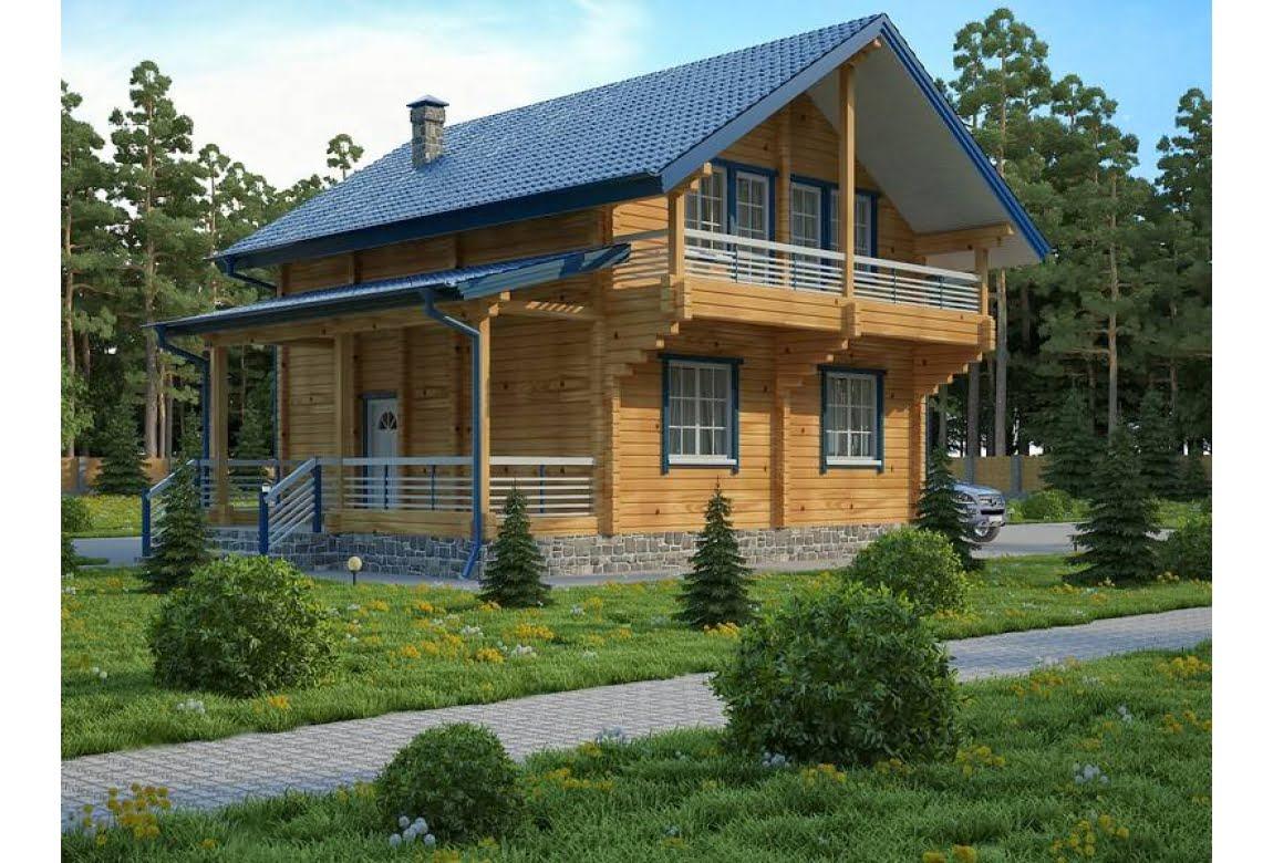 Проект дома из клееного бруса Ларикс