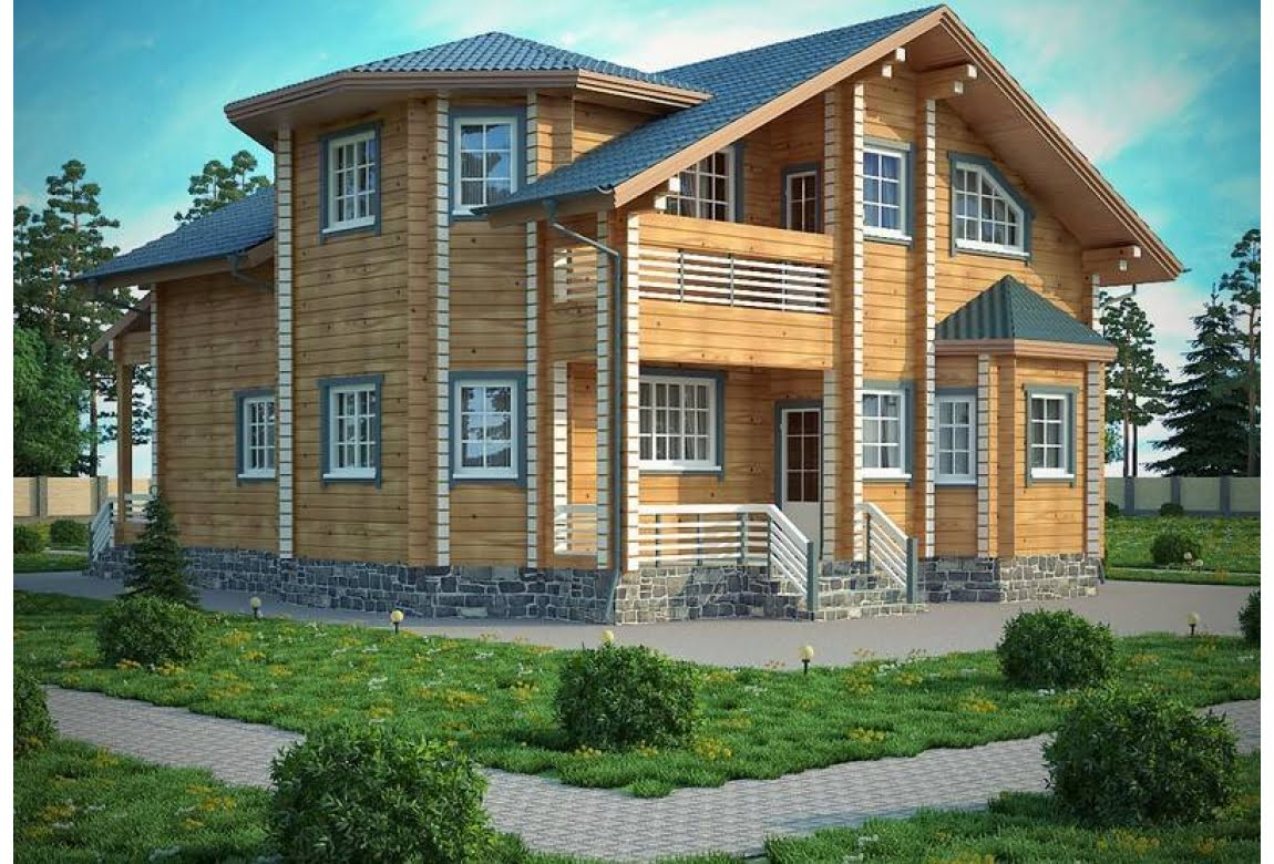Проект дома из клееного бруса Рига