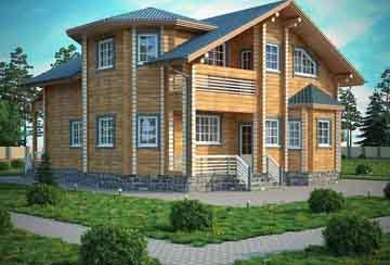 Дом из клееного бруса АСД-Рига