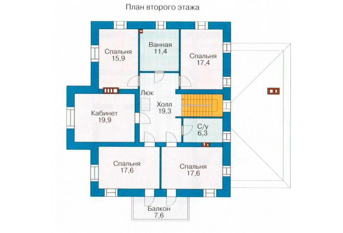 План N1 проекта кирпичного дома АСД-1059