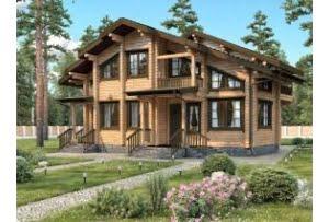 Деревянный дом из клееного бруса Шале