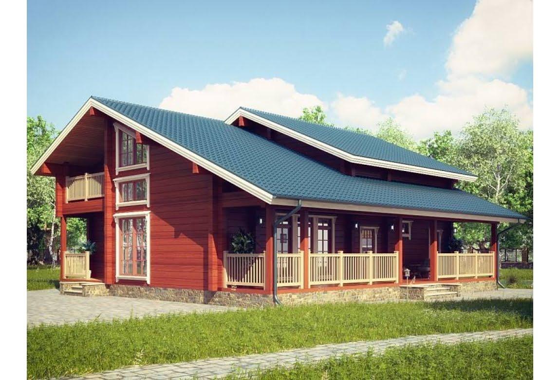 Проект дома из клееного бруса Анси