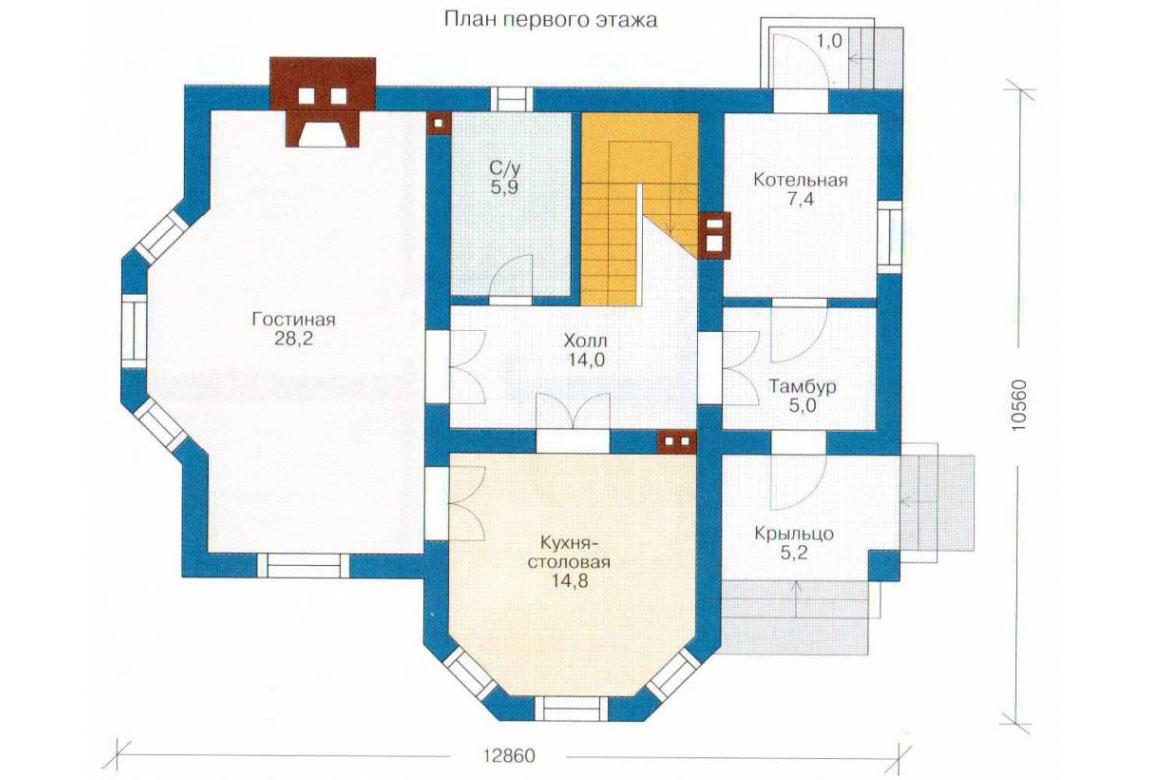 План N2 проекта кирпичного дома АСД-1006