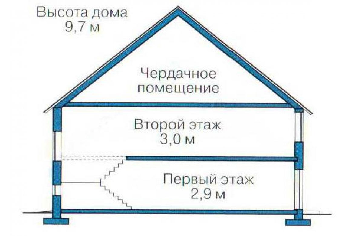 План N3 проекта кирпичного дома АСД-1006