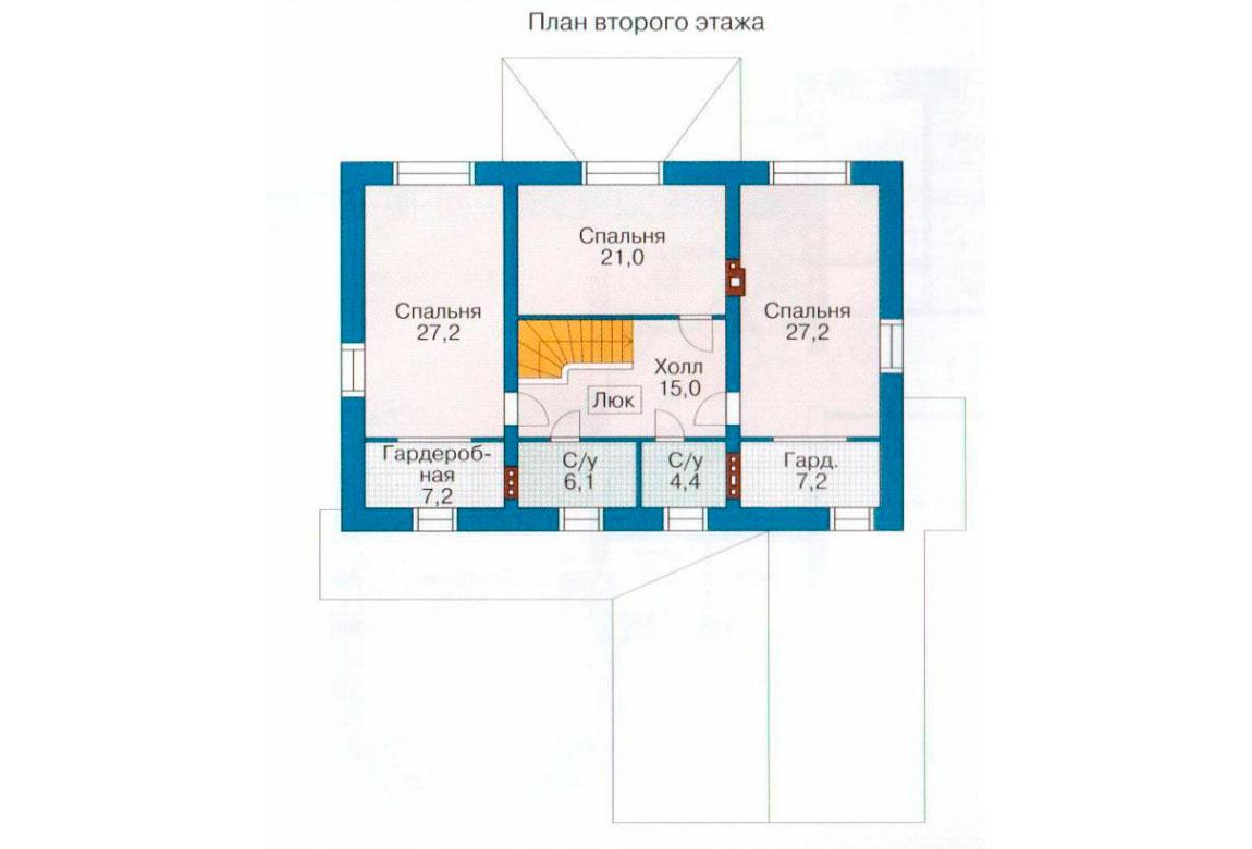 План N1 проекта кирпичного дома АСД-1060
