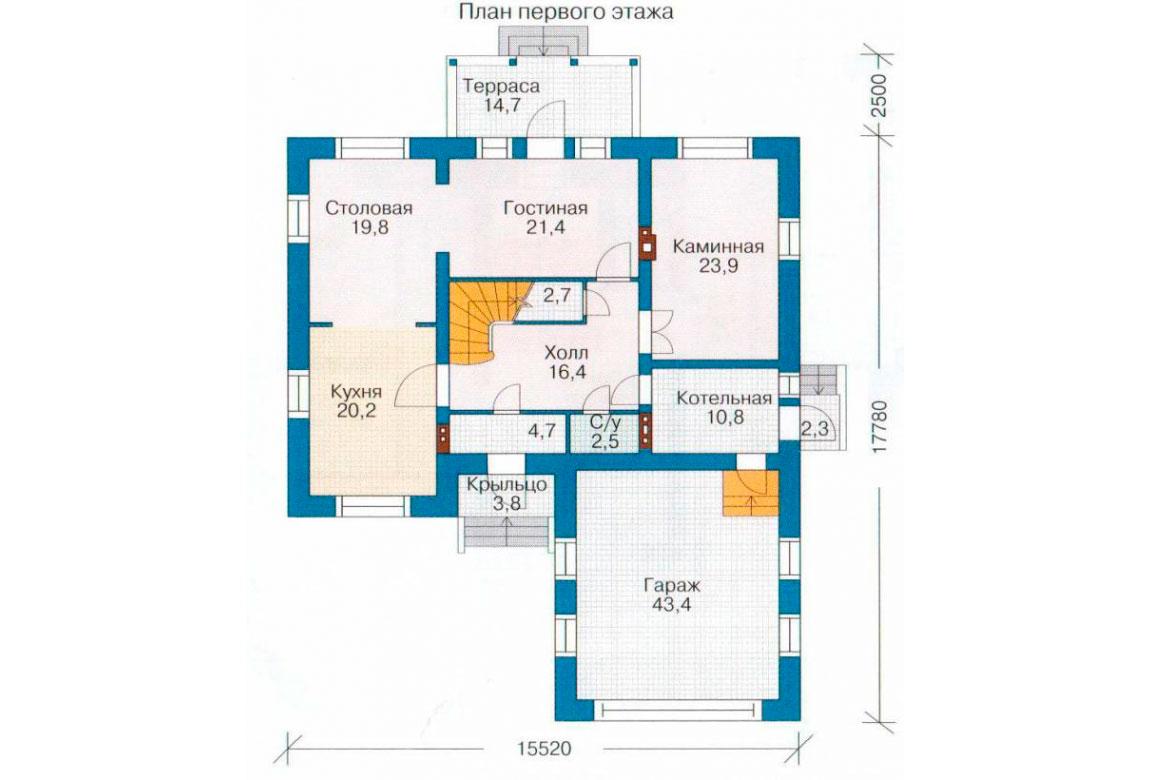 План N2 проекта кирпичного дома АСД-1060