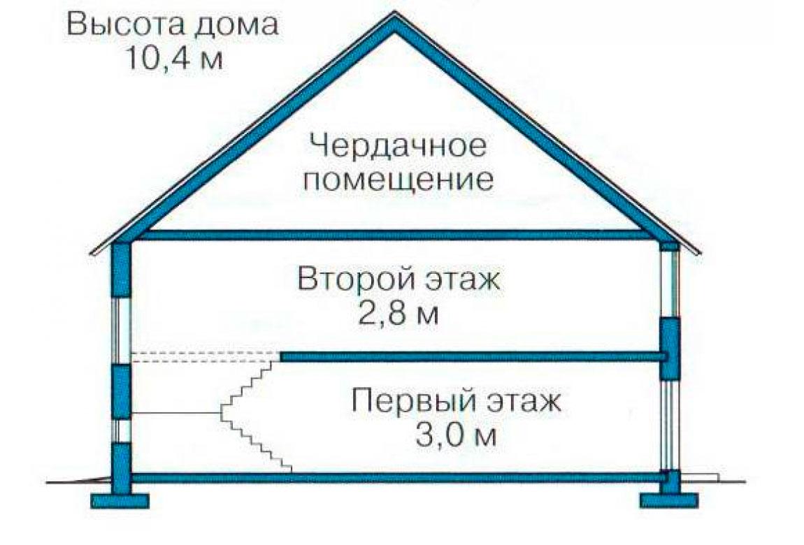 План N3 проекта кирпичного дома АСД-1060