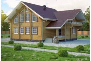 Деревянный дом из клееного бруса Женева